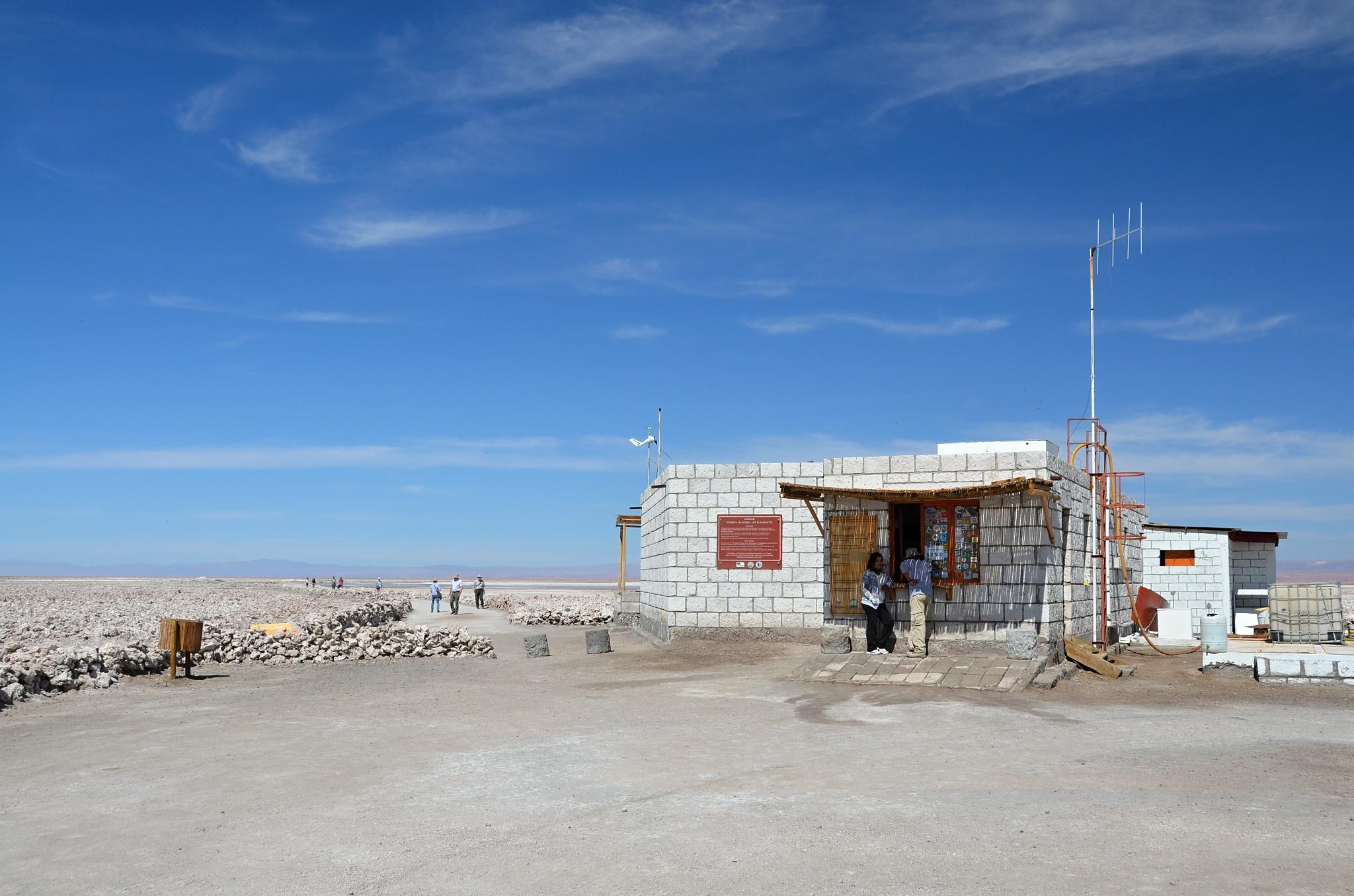 Administrativní budova u jezírka Chaxa