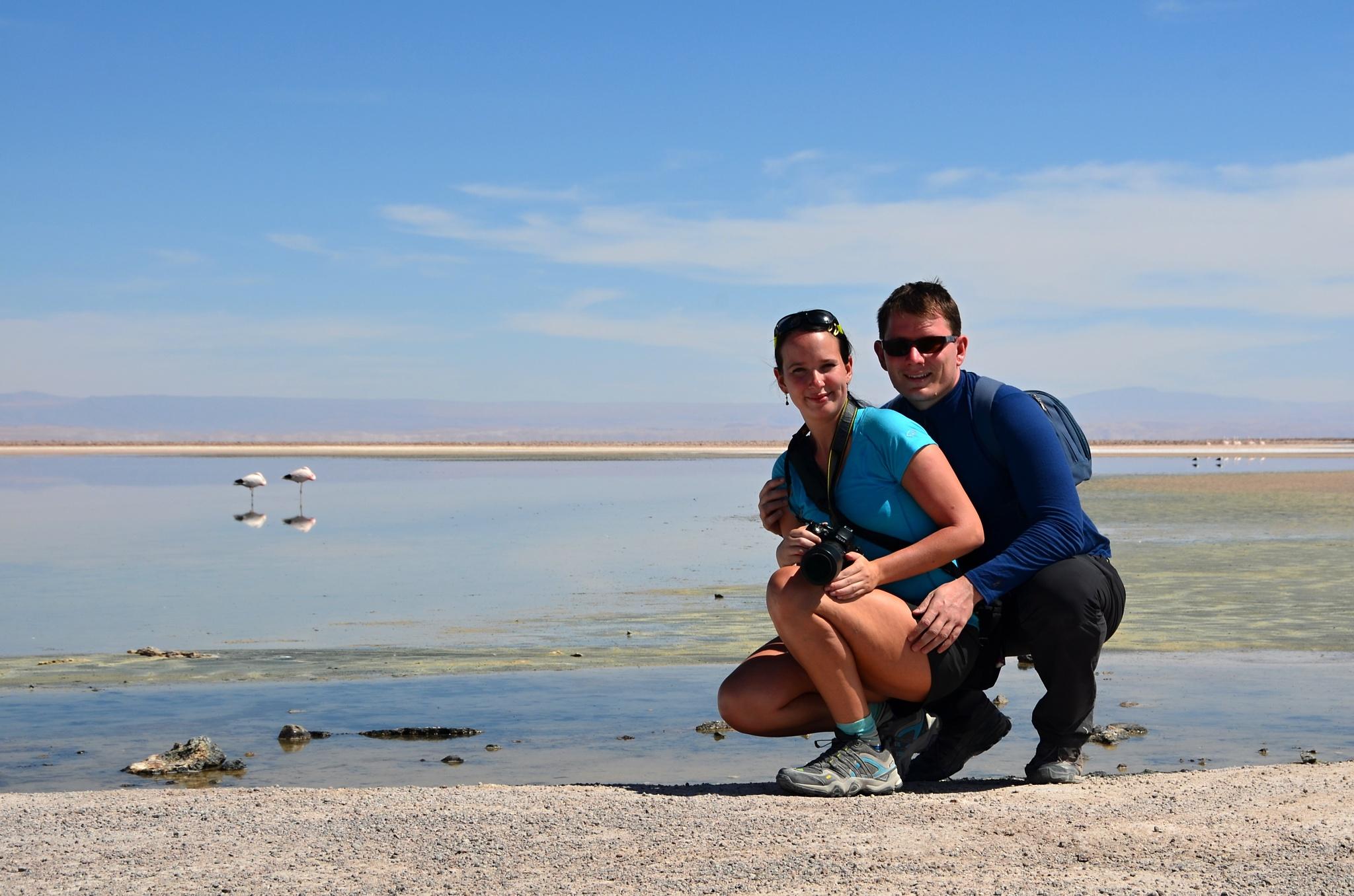My a plameňáci u jezera Chaxa