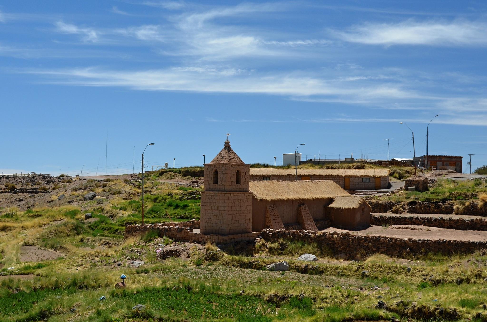 Malá vesnice Socaire a její kostelík