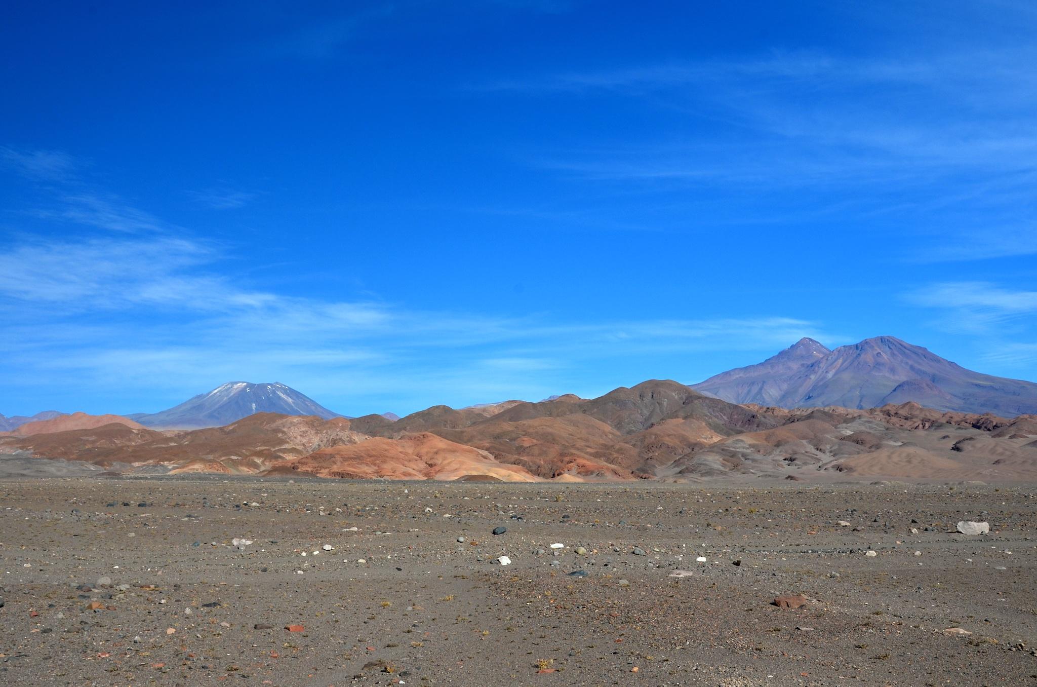 Duhové hory na cestě domů do San Pedra