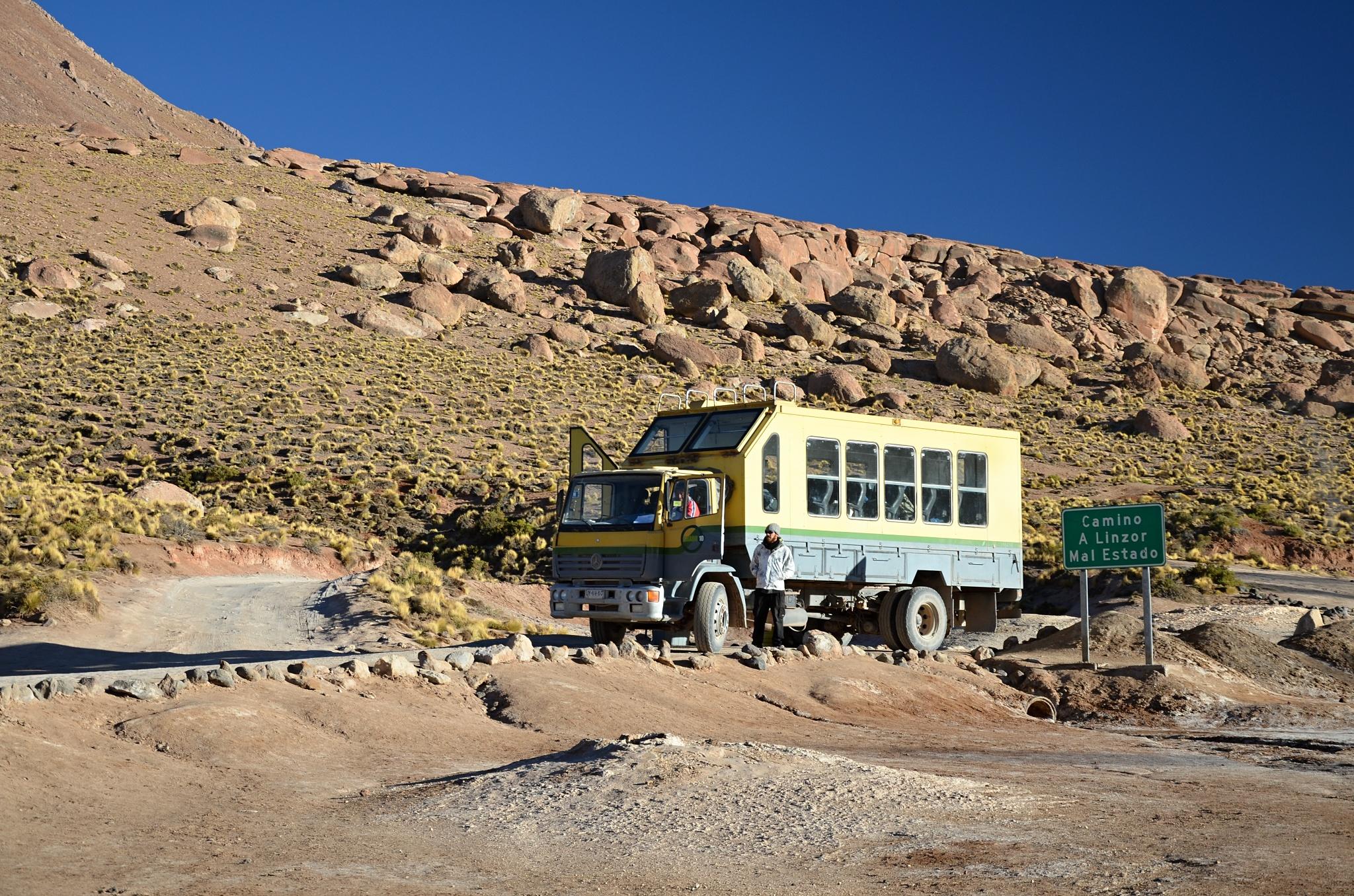 Terénní náklaďák ostatních turistů