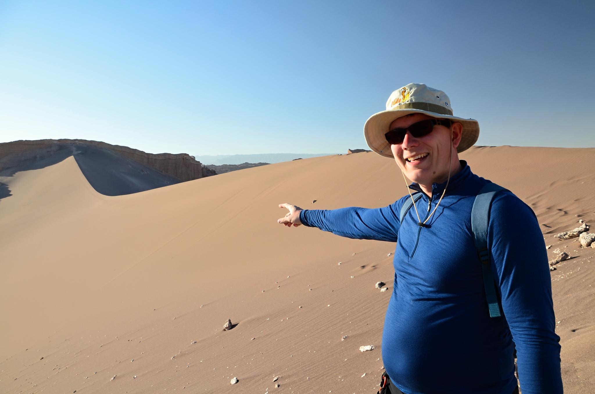 To je ona, obrovská písečná duna ve Valle de la Luna