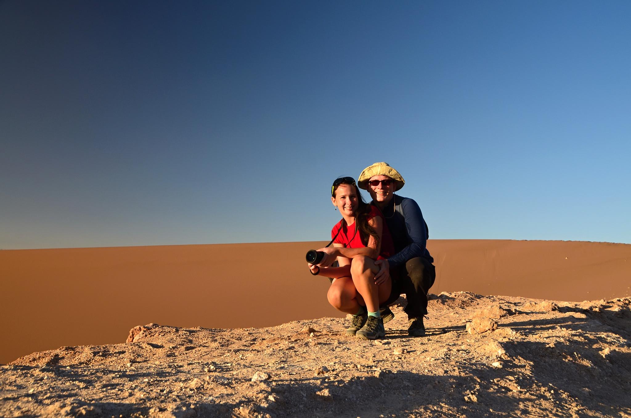 Společná fotka u duny ve Vale de la Luna