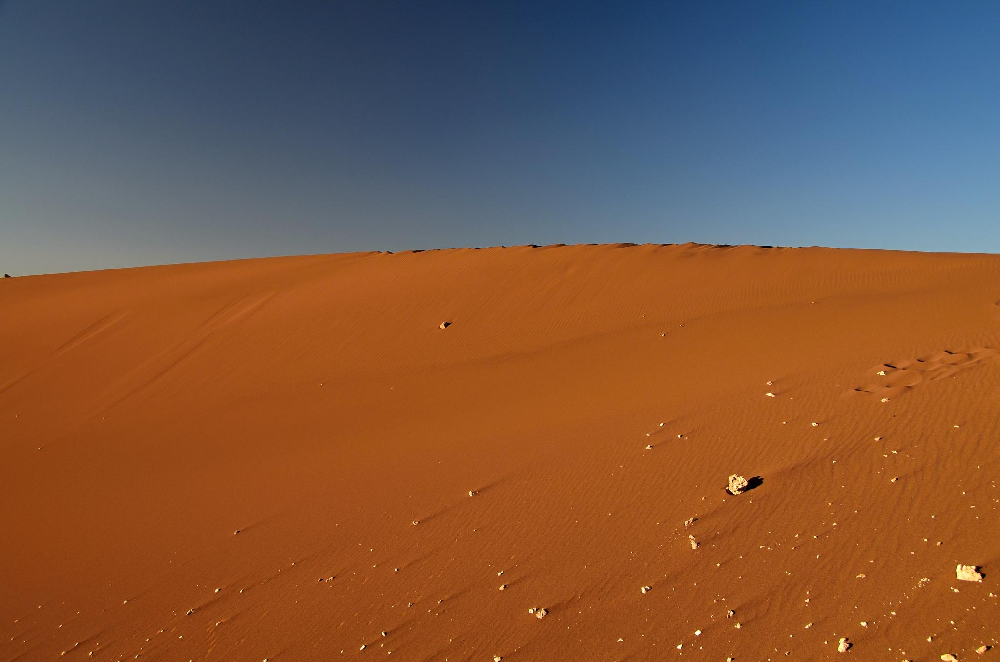 Krásně zbarvená duna ve Valle de la Luna