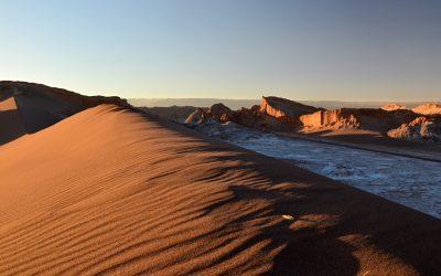 Západ slunce ve Valle de la Luna
