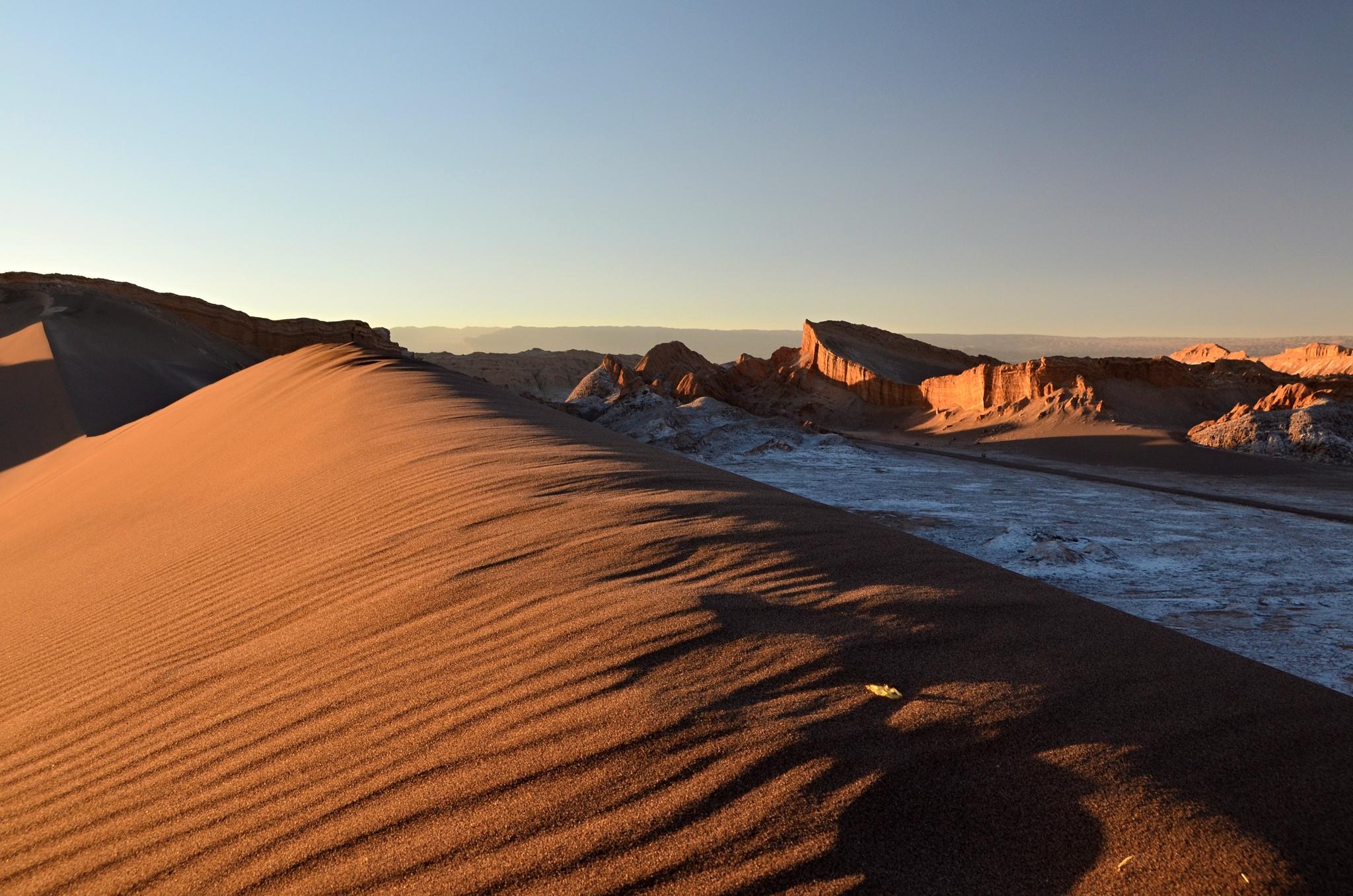 Nejkrásnější fotka písečné duny ve Valle de la Luna