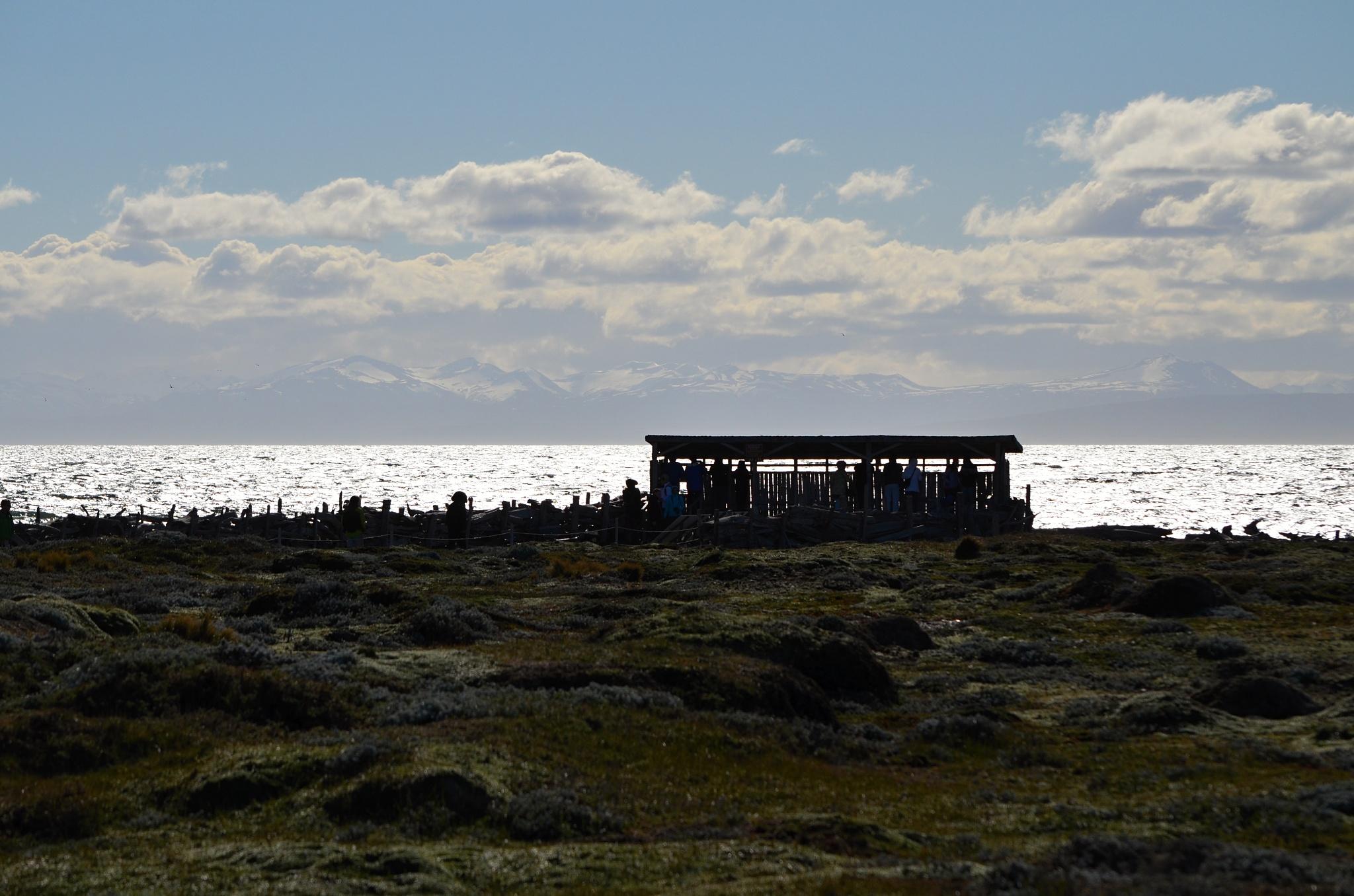 Dřevěná pozorovatelna u moře, náš cíl