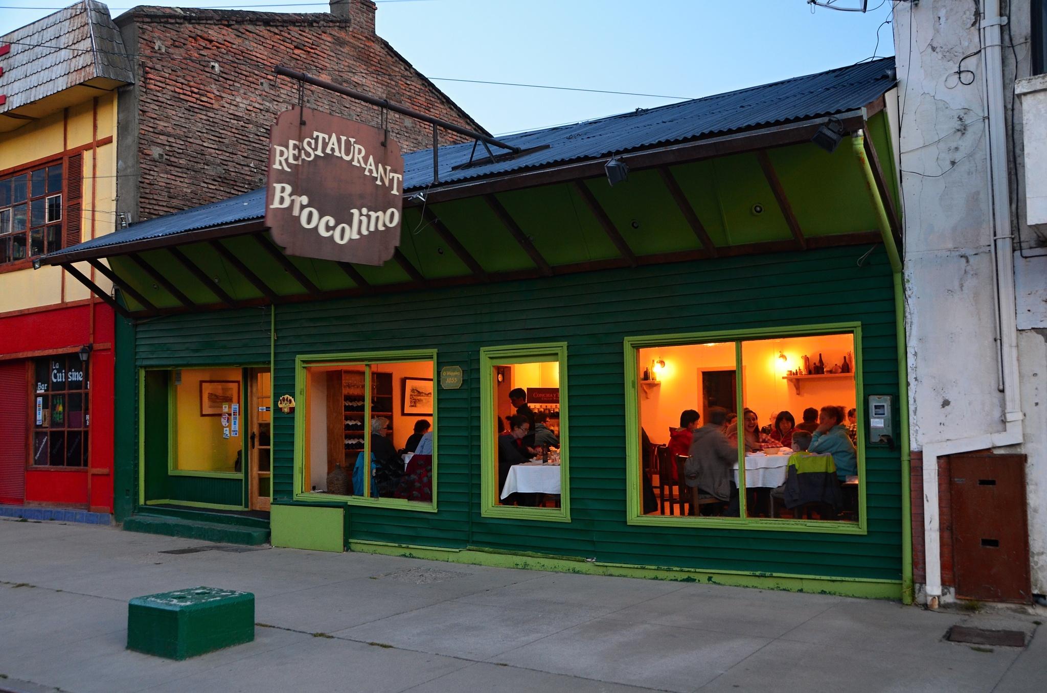 Restaurace Brocolino, kam jsme zašli na večeři