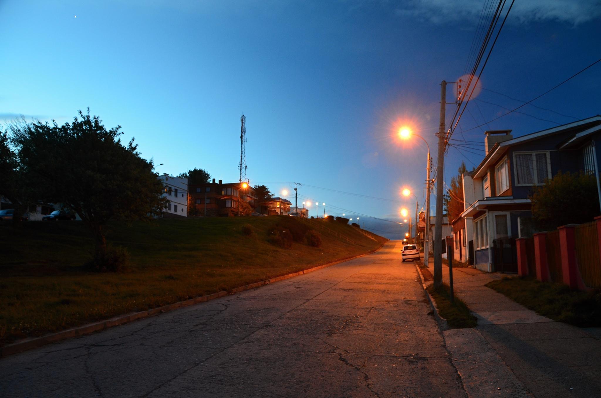 Noční Punta Arenas