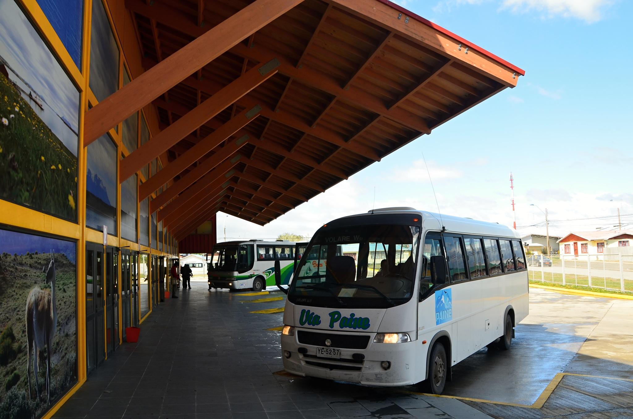 Autobusové nádraží v Puerto Natales