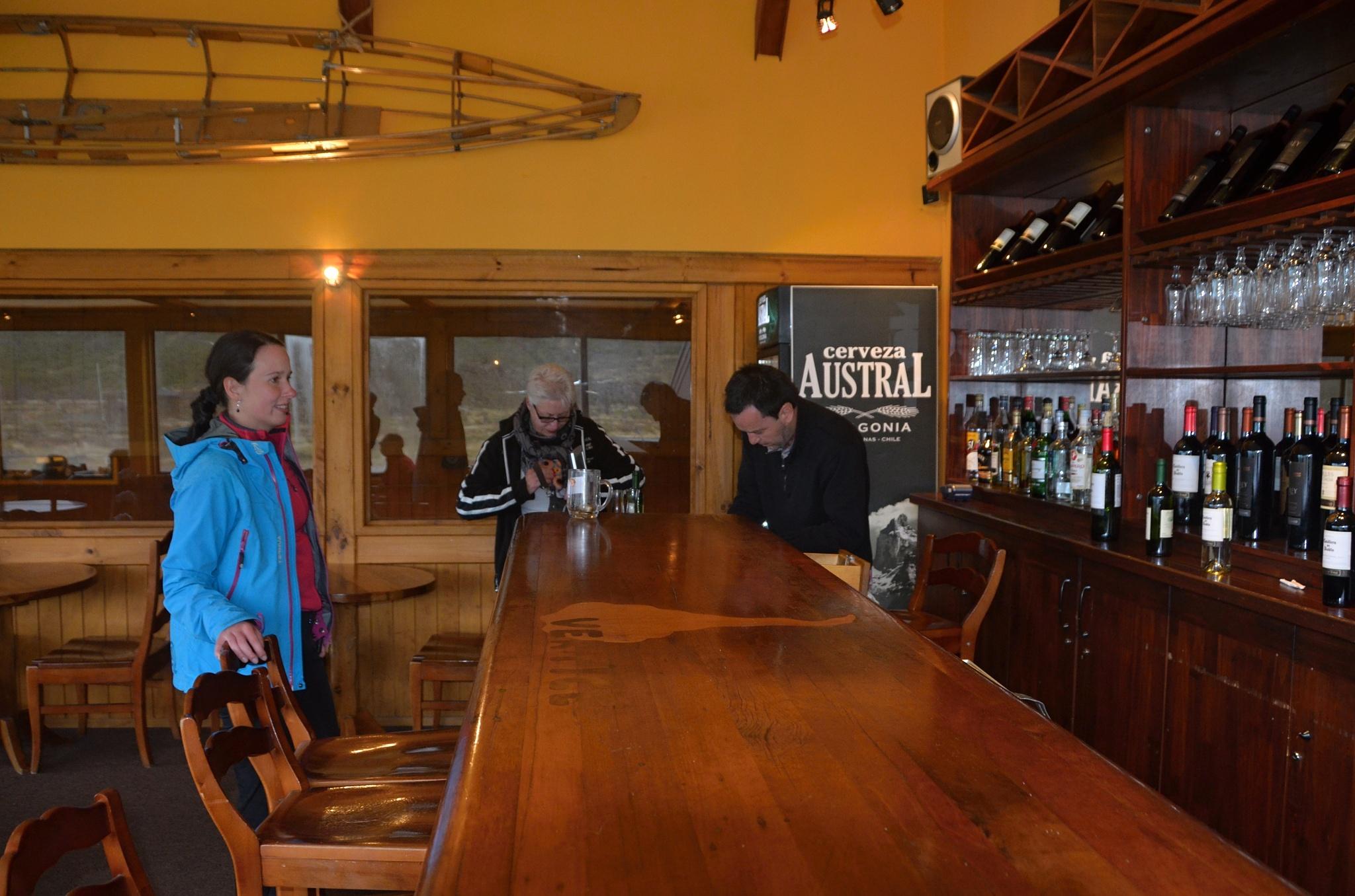 Malý bar v hlavní chatě