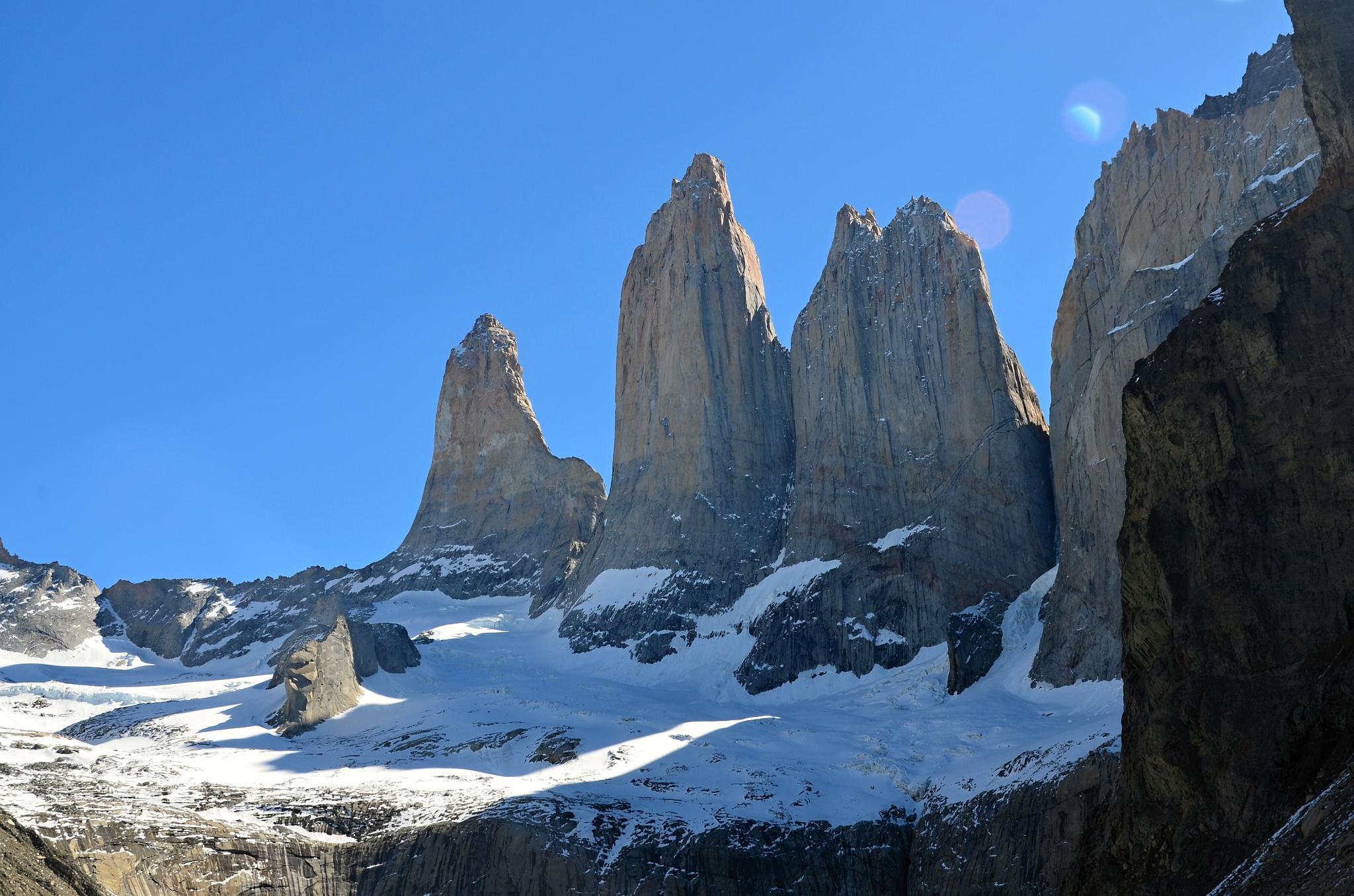 Detail na Torres del Paine