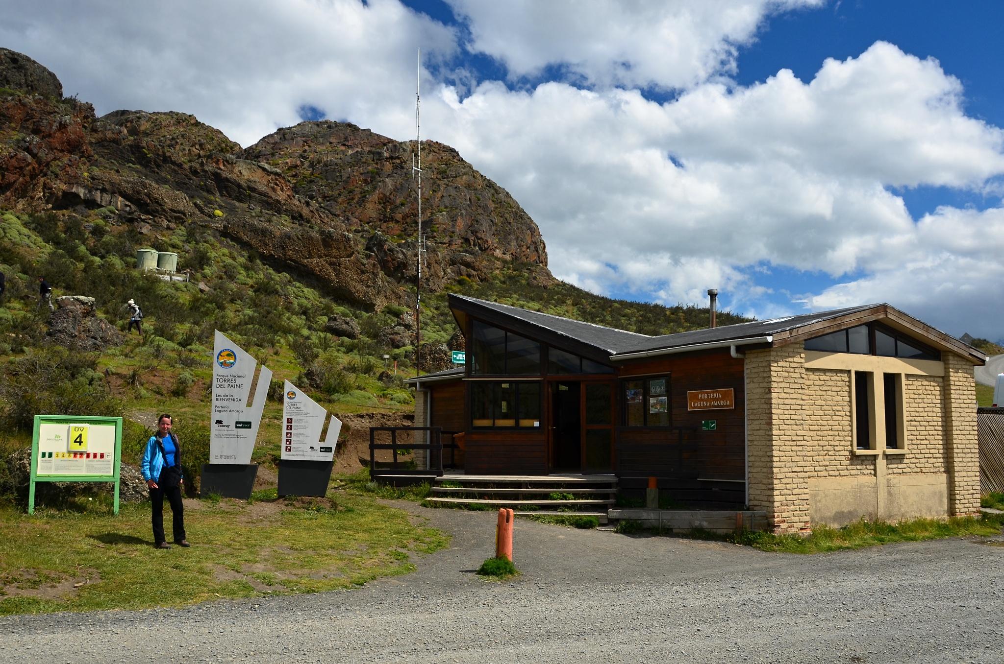 Administrativní budova Conafu u jezera Amarga