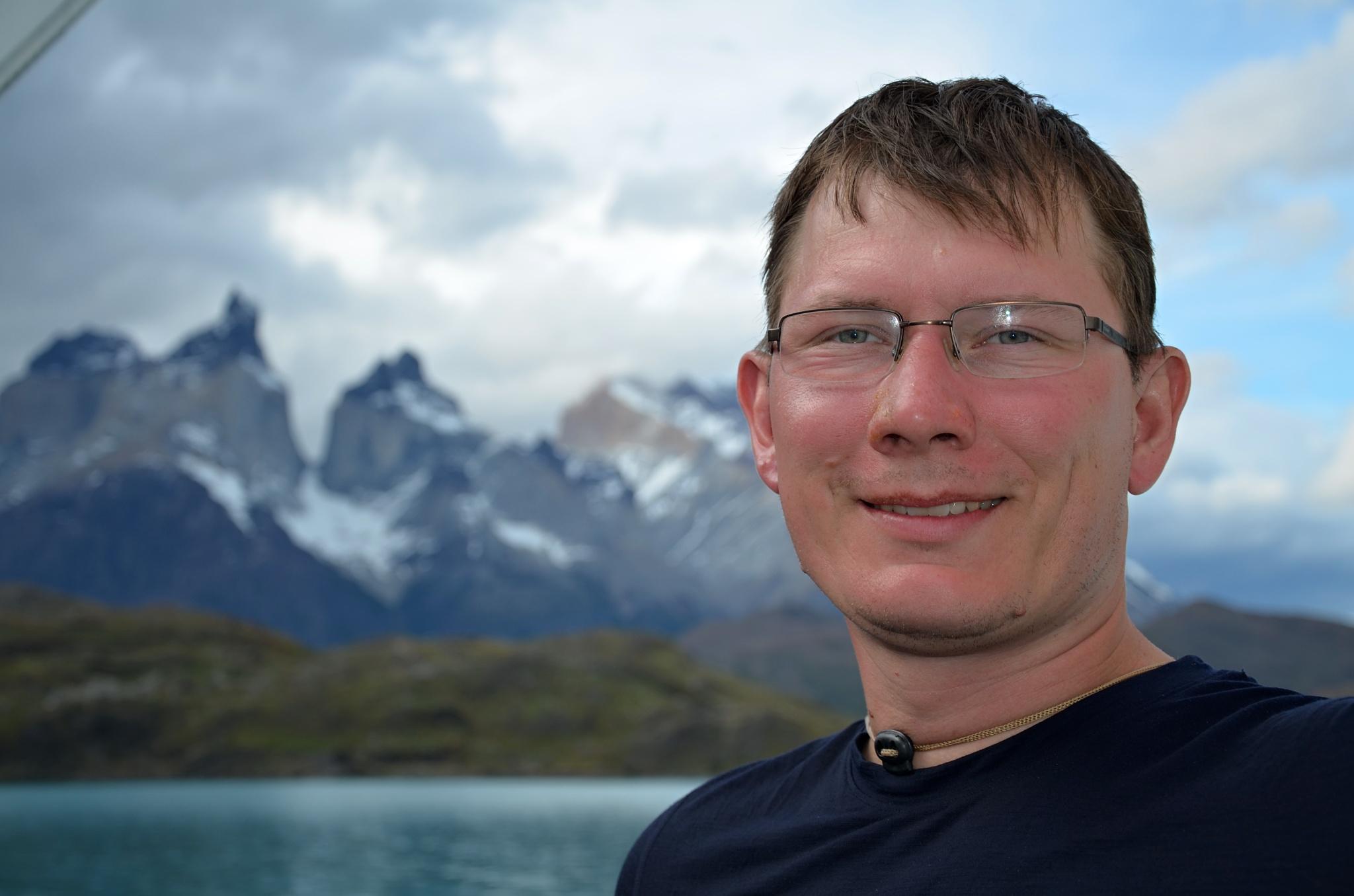 Momentka před Cuernos del Paine