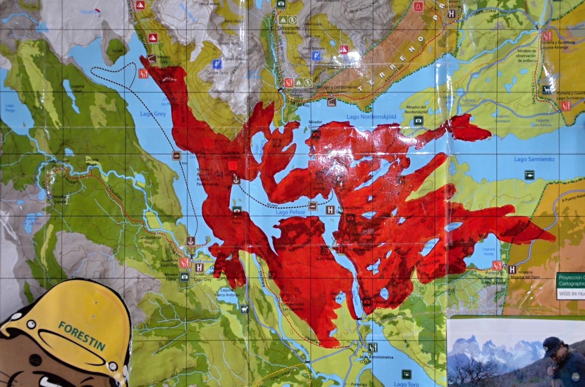 Mapa požáru z roku 2011