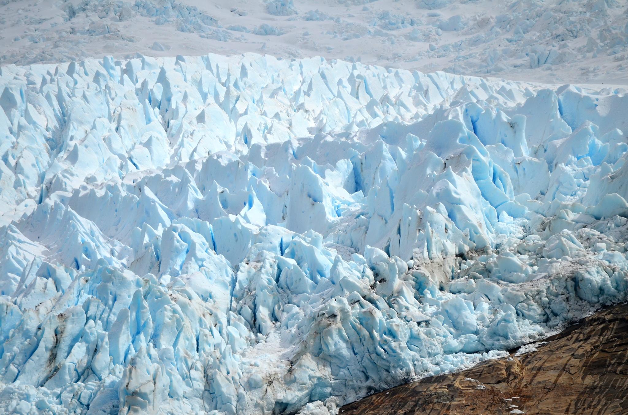 Detail na čelo ledovce Balmaceda