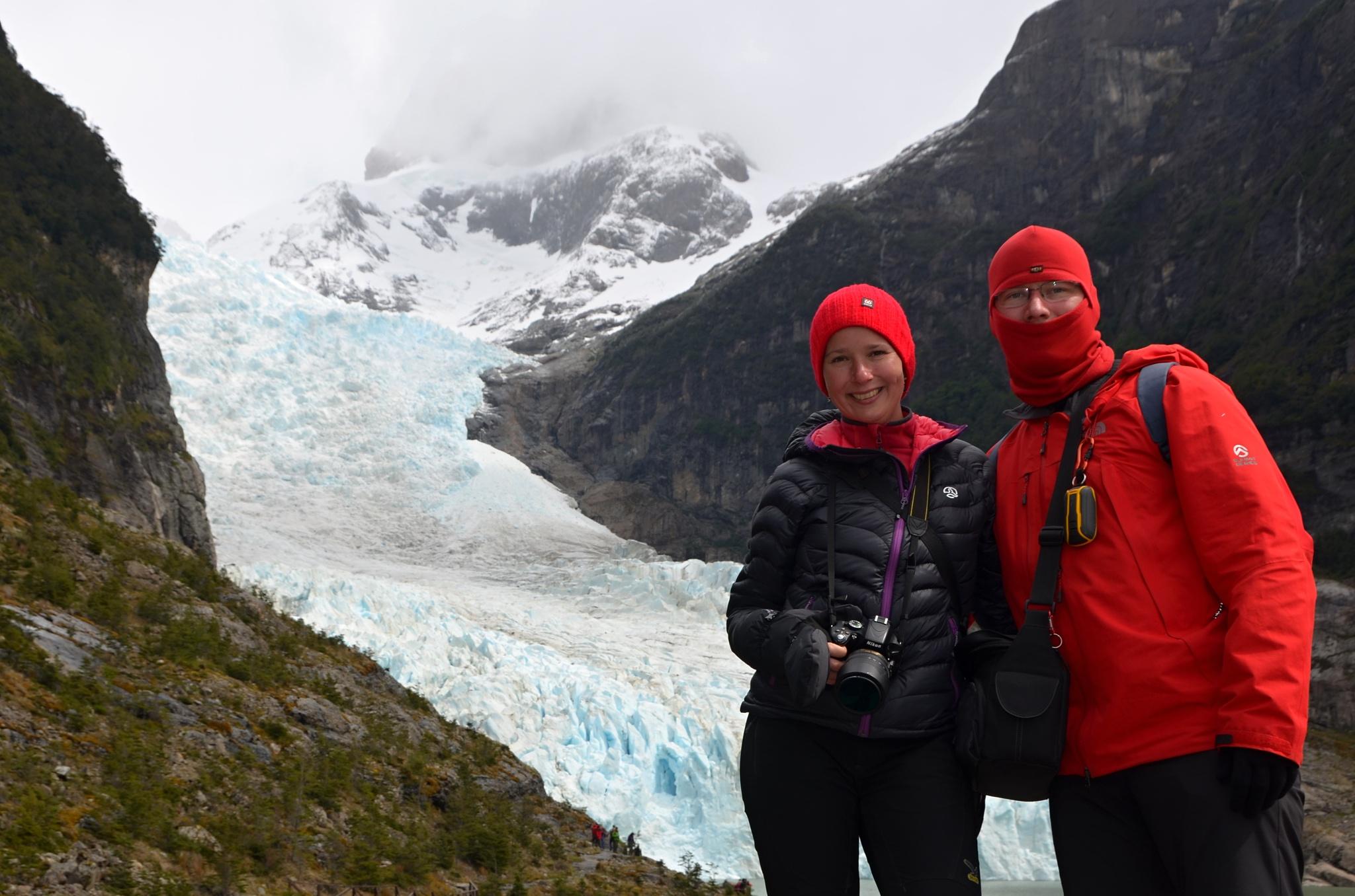 Společná fotka u ledovce Serrano