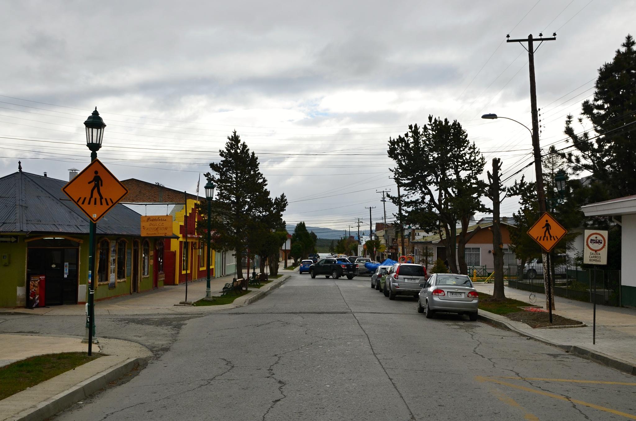 Typická ulice v Puerto Natales