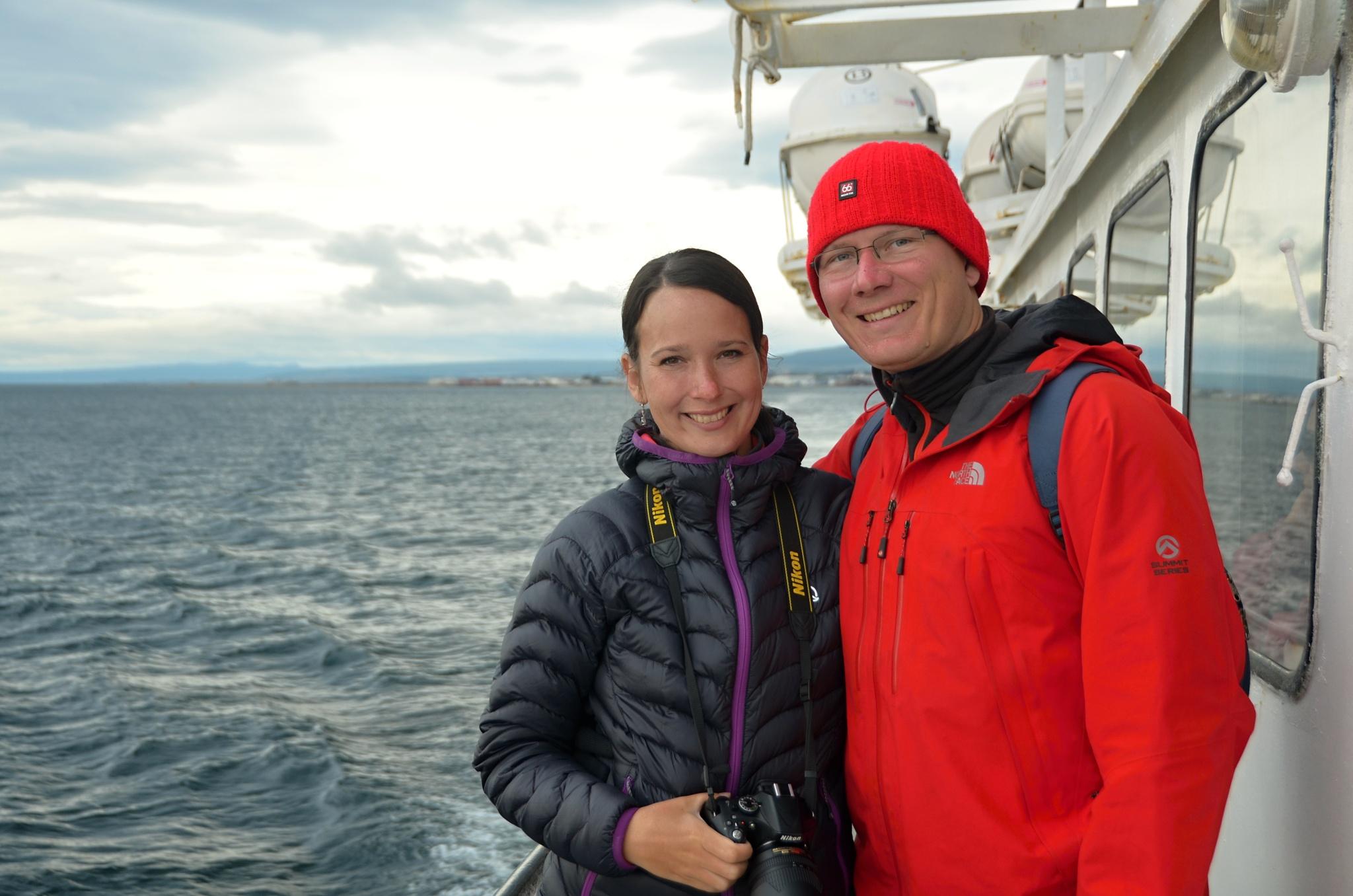 Společná fotka na lodi