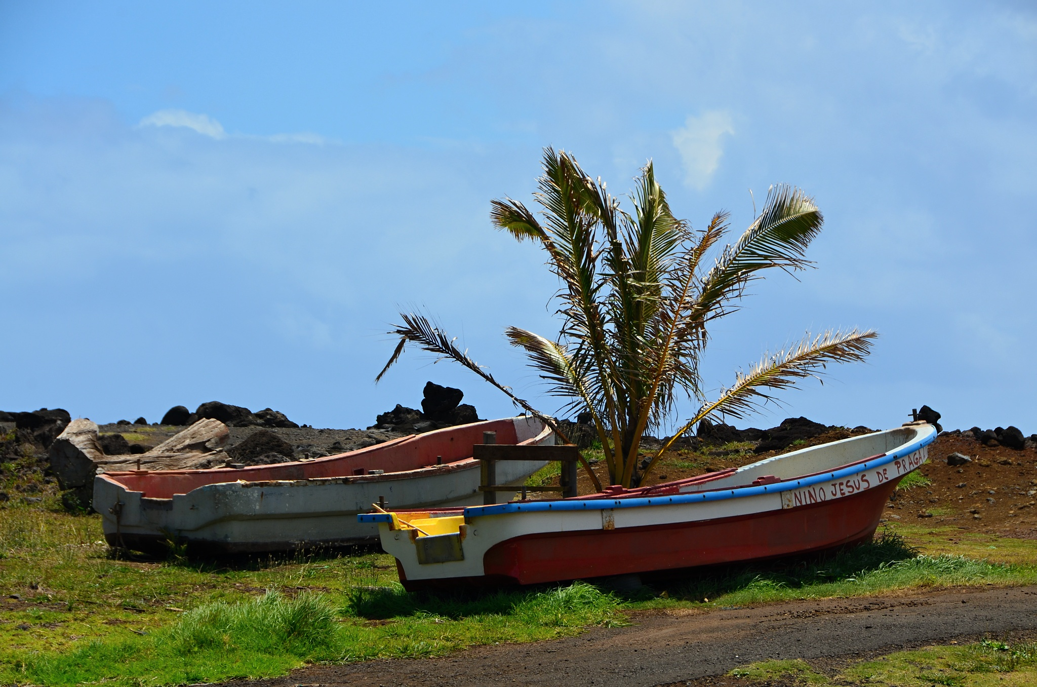 Trochu zvláštní jméno pro loďku na Velikonočním ostrově...