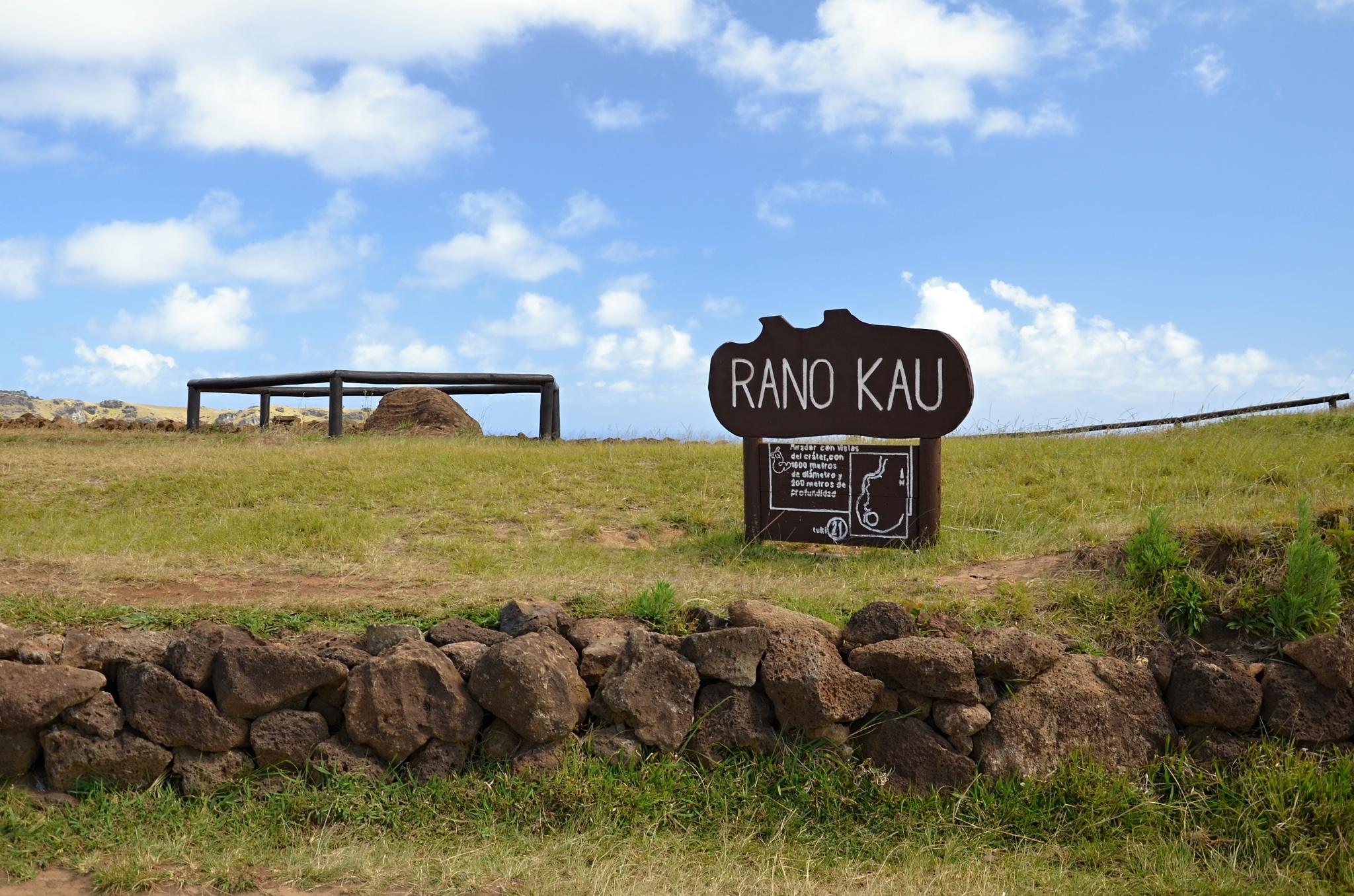 Jsme na vrcholku vulkánu Rano Kau
