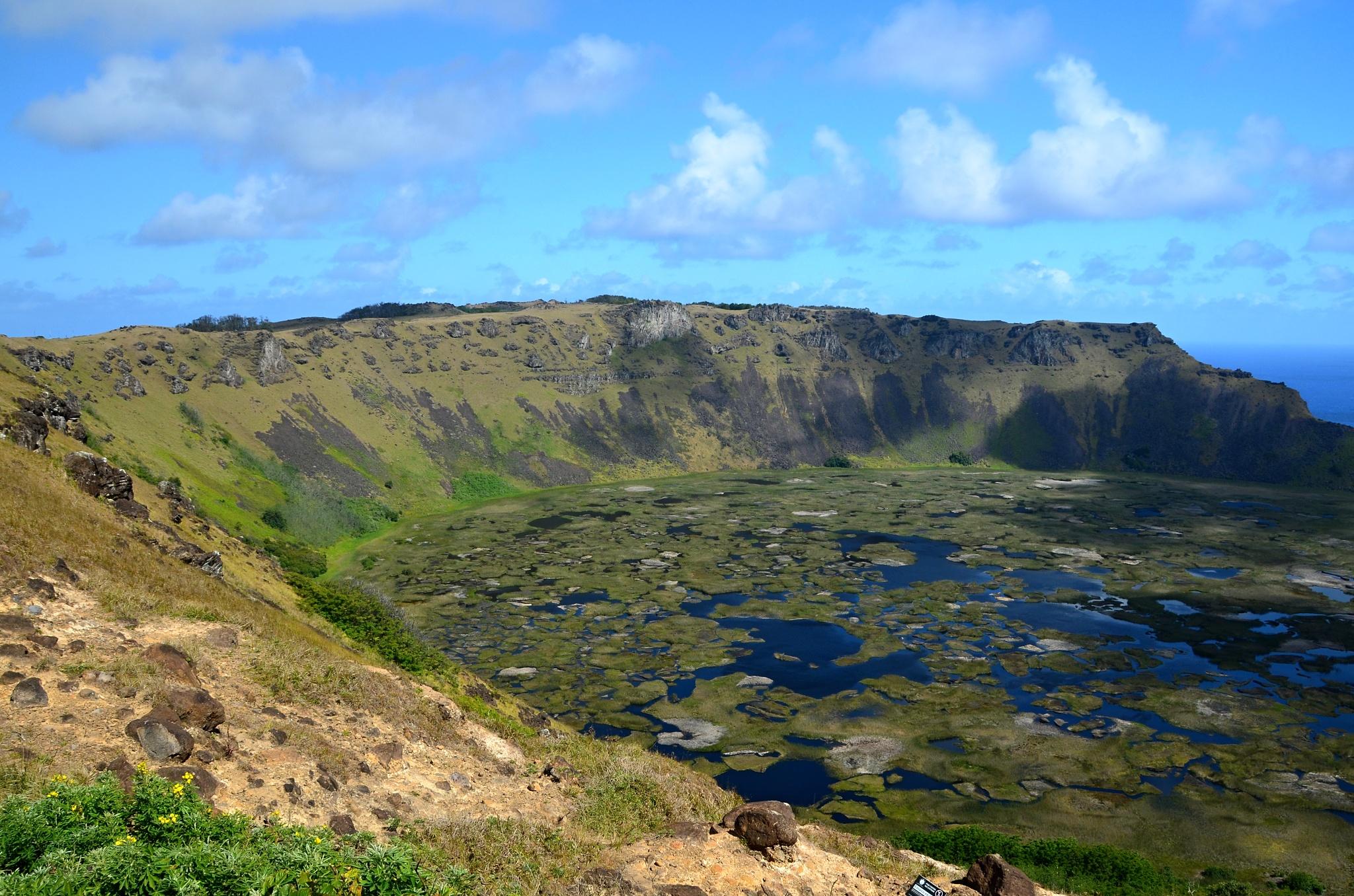 Kráter sopky Rano Kau