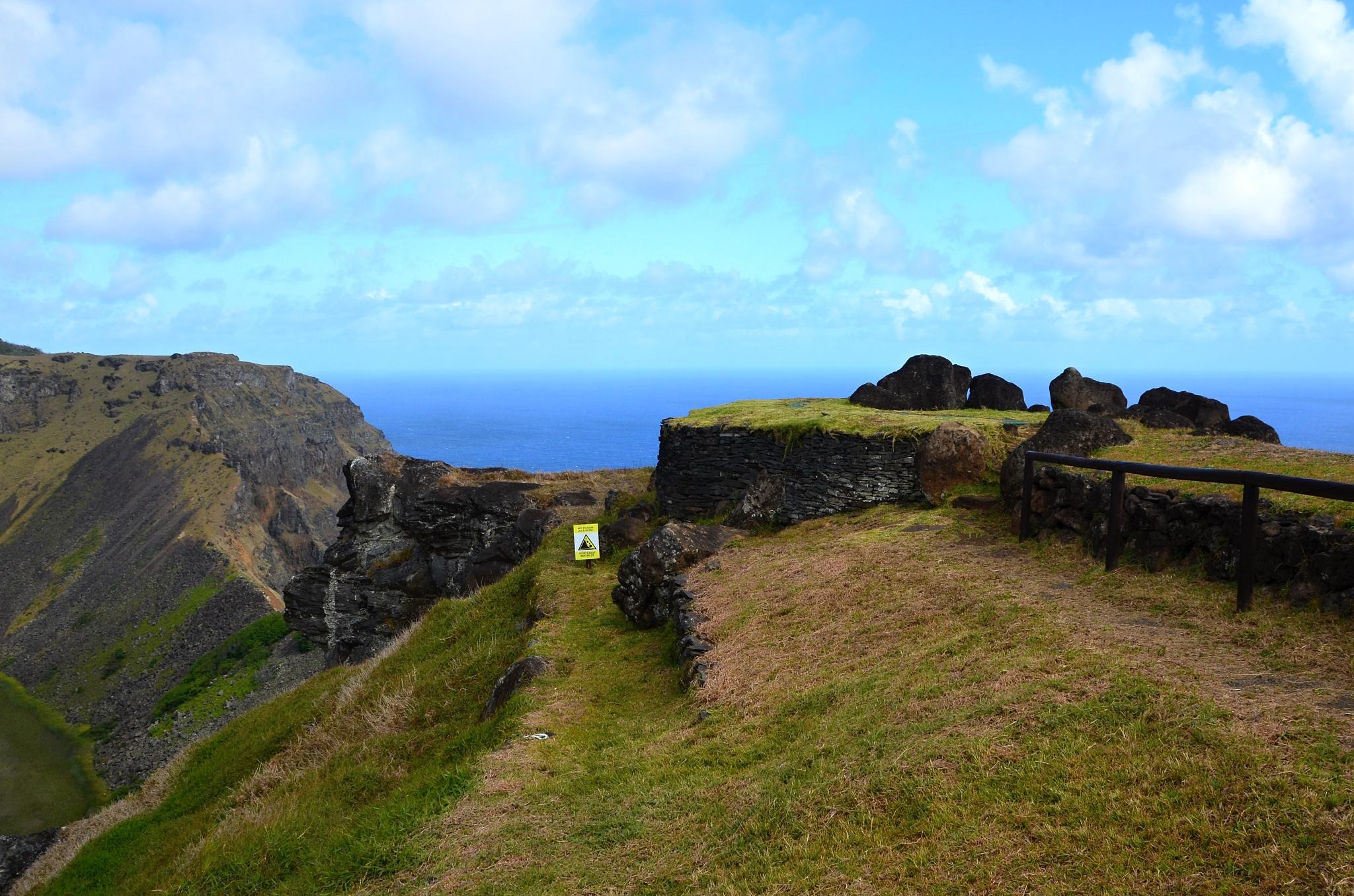 Obřadní vesnice Orongo na Velikonočním ostrově