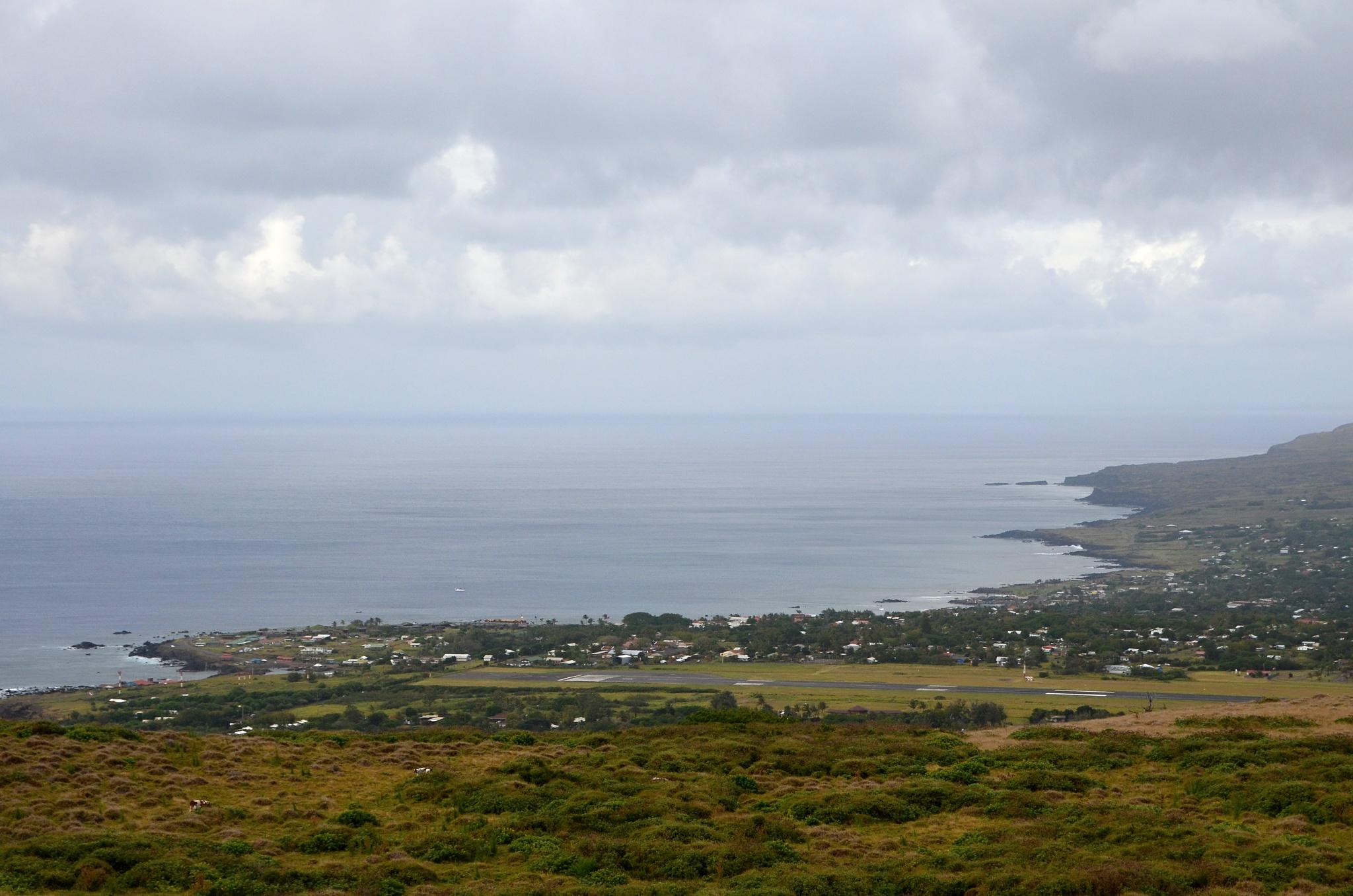 Pohled na městečko Hanga Roa