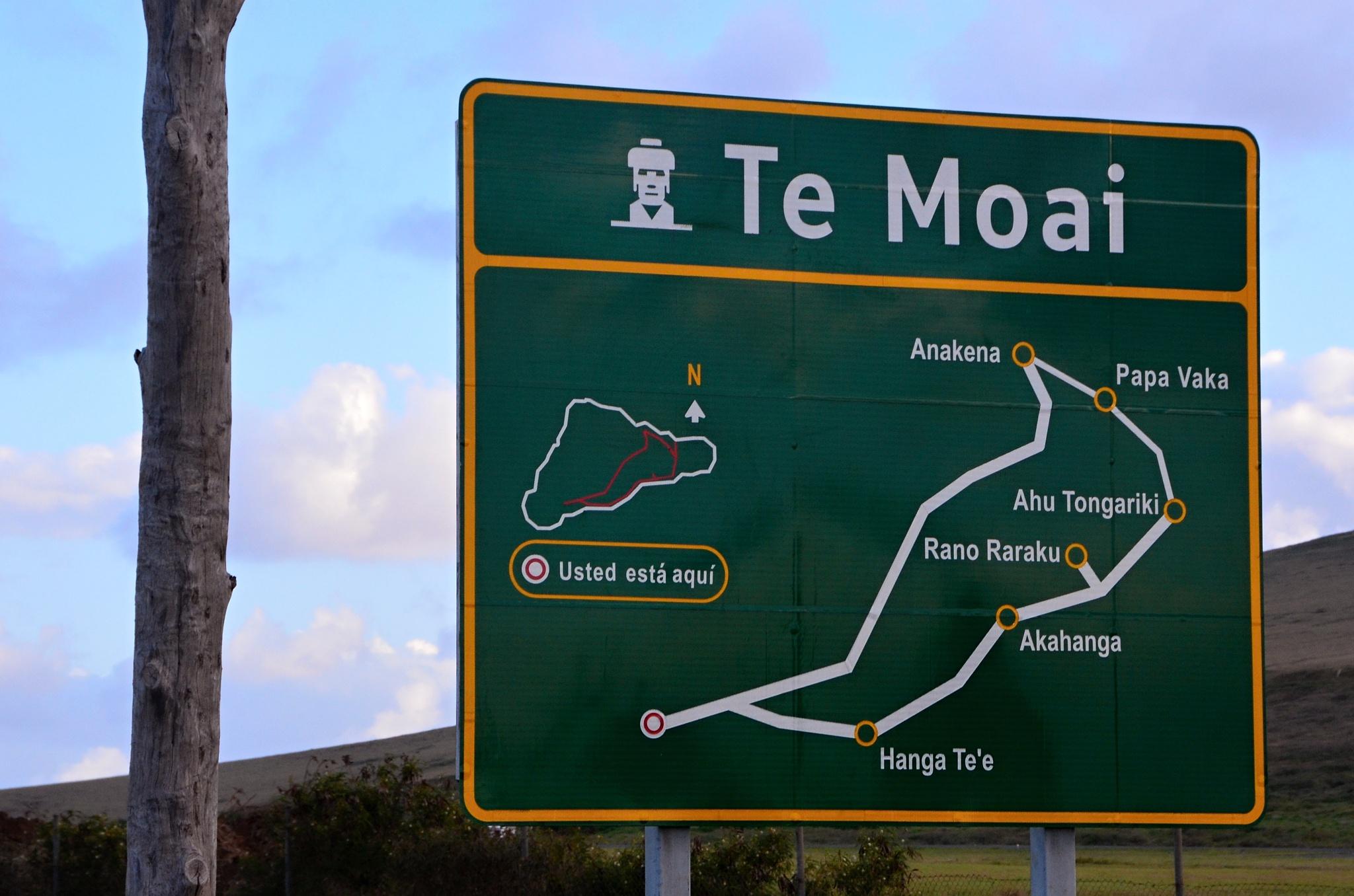 Schematický nákres hlavní silnice po ostrově