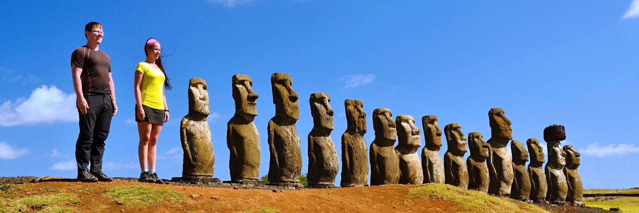 My a sochy na Velikonočním ostrově