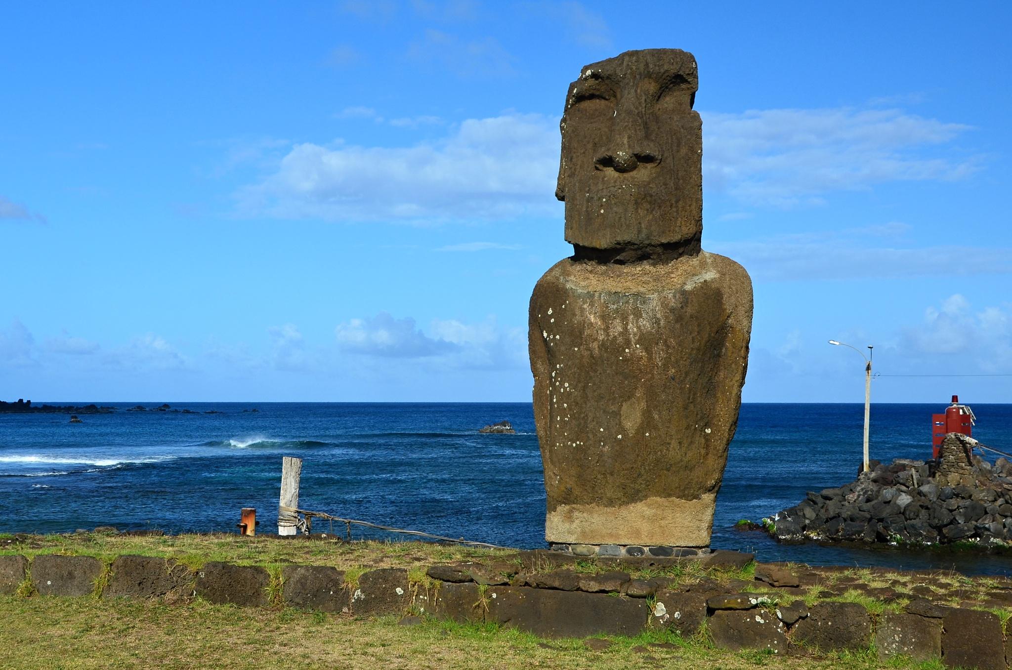 Moai na Ahu Hotake