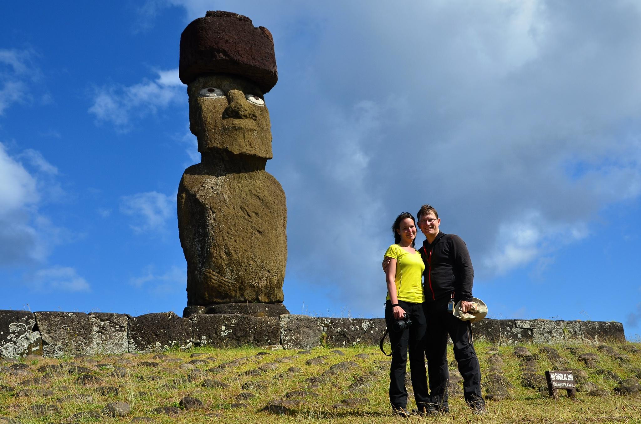 Moai na Ahu Ko Te Riku a my dva