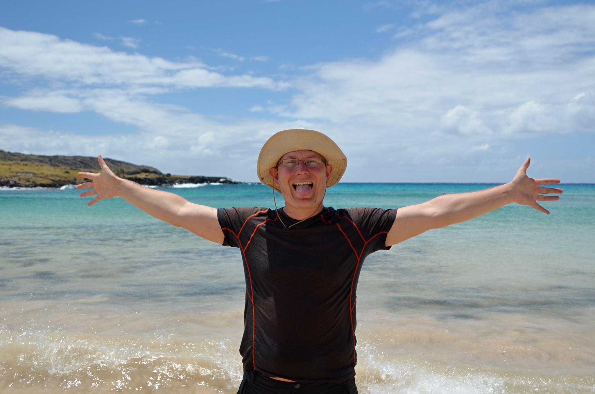 Pláž je tááááááááákhle velká