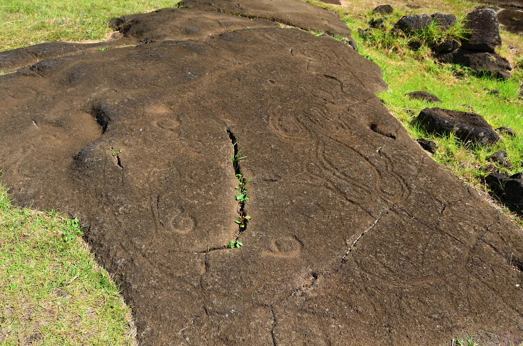 Petroglyfy na místě Papa Vaka