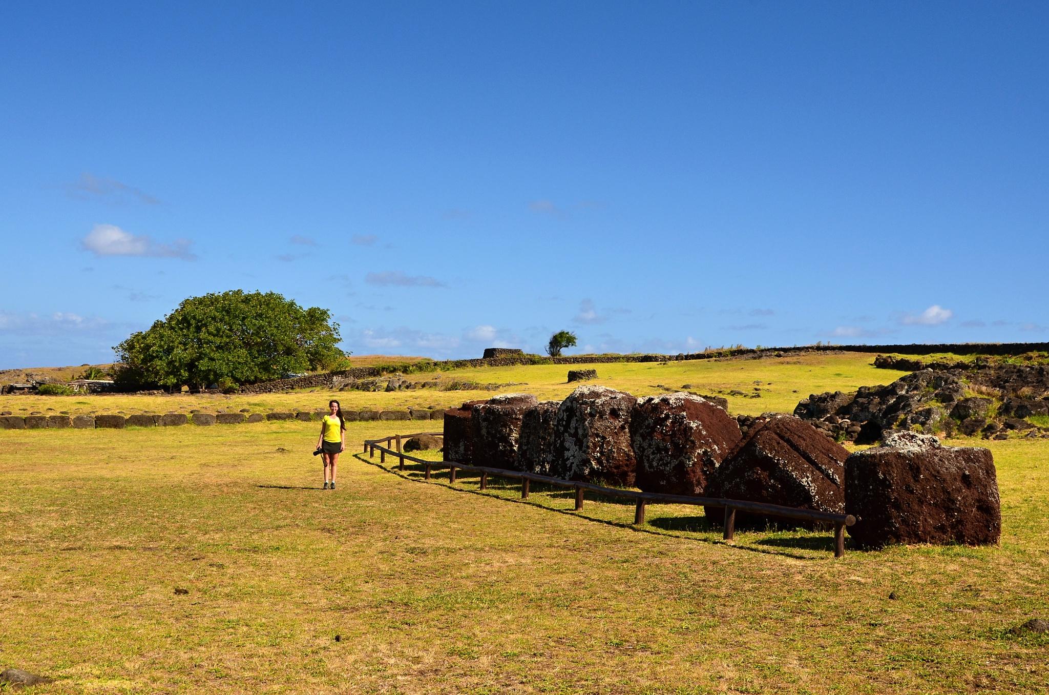 Hanka a klobouky pro Moai