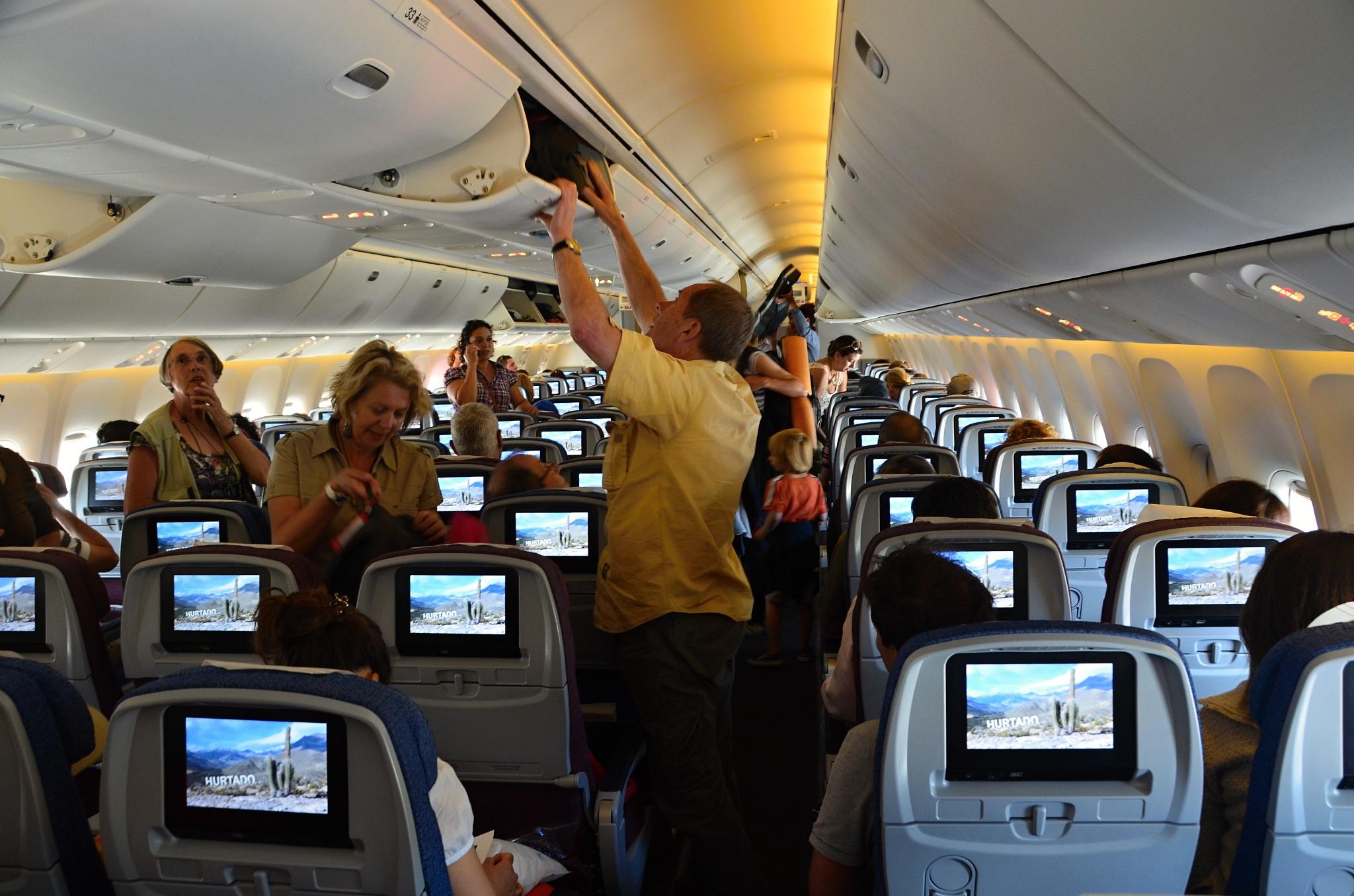 Moderní interiér letadla