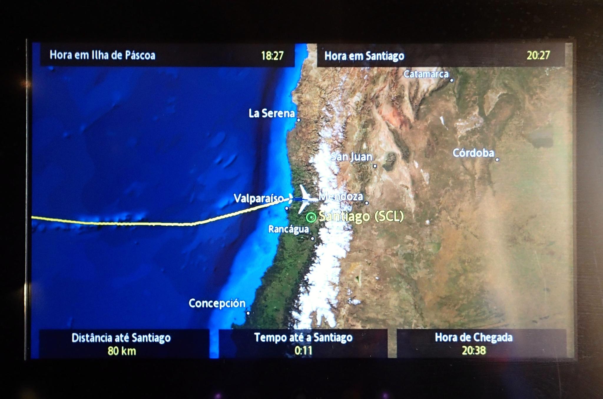 Ještě pár minut a jsme v Santiagu