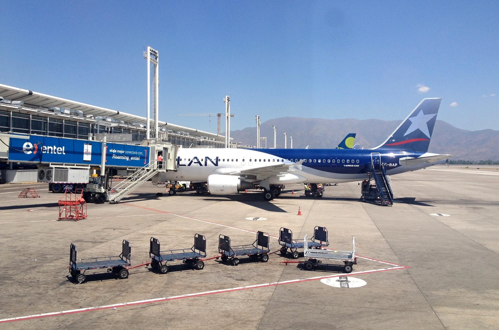Na letišti v Santiagu