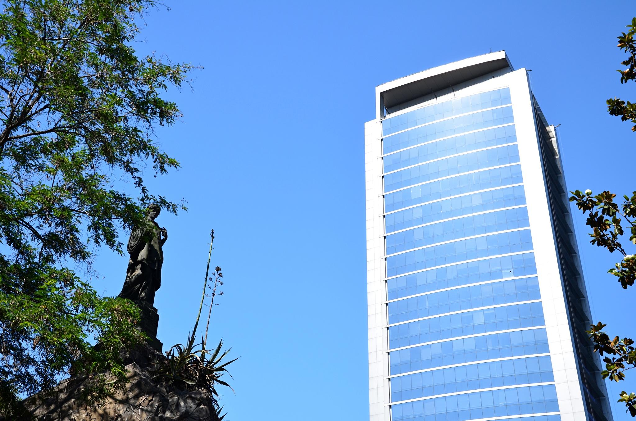 Moderní architektura v centru Santiaga