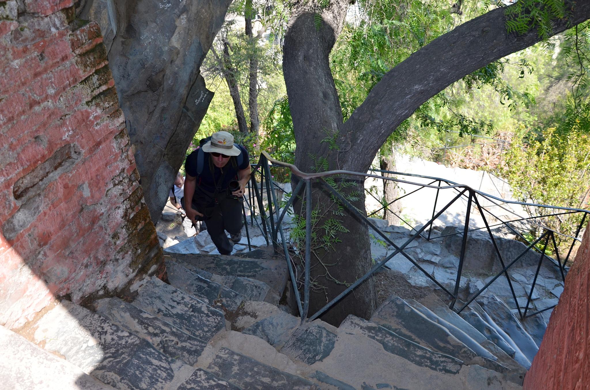 Vylézt na starou pevnost na vrcholku Santa Lucía bylo občas dost namáhavé