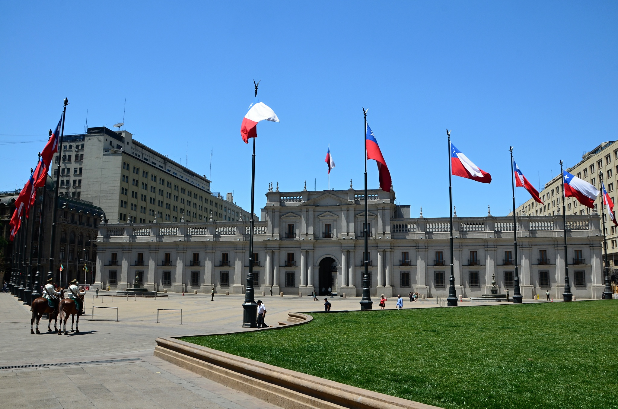 Prezidentský palác v centru Santiaga