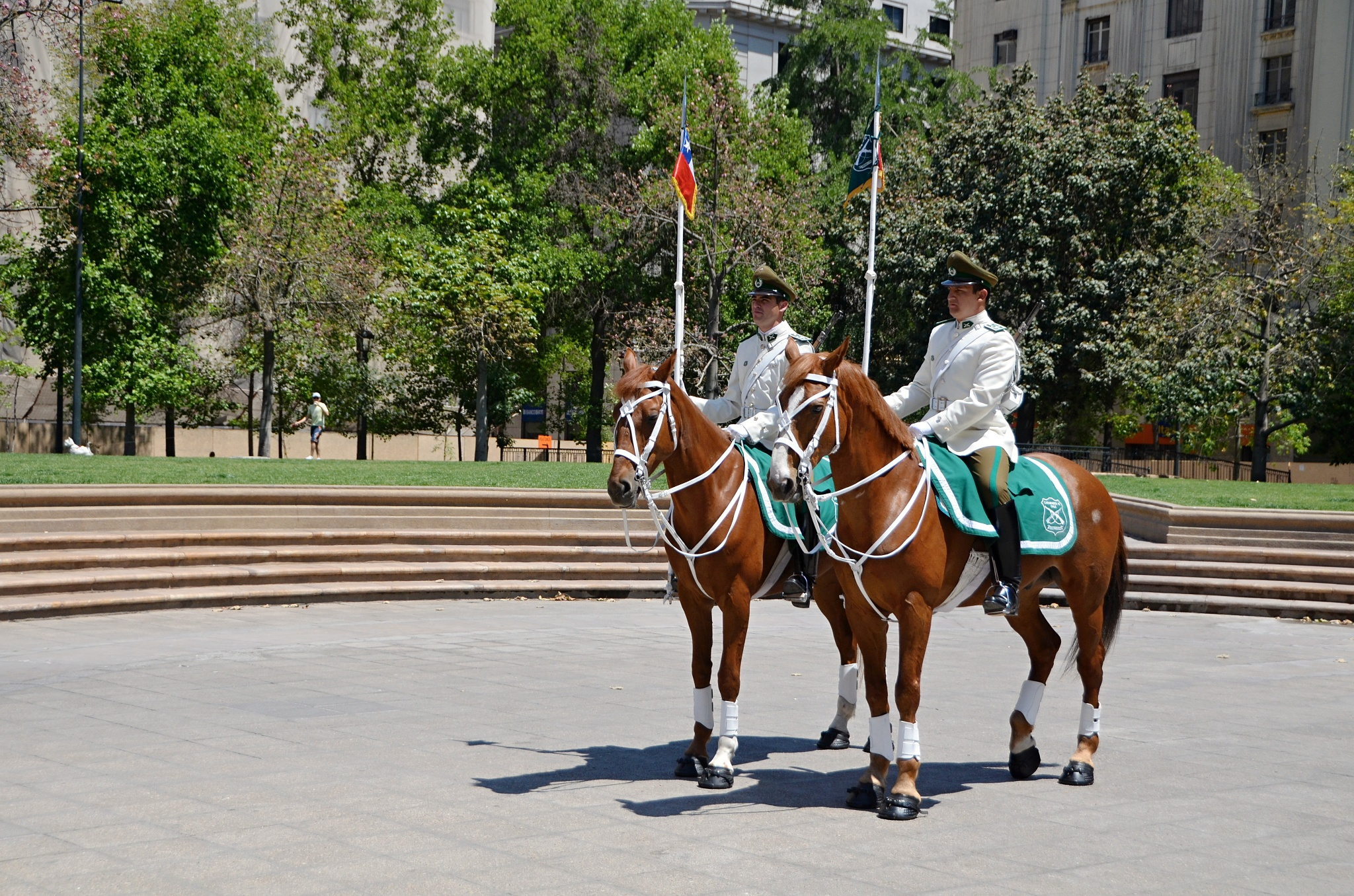 Jízdní stráž před prezidentským palácem