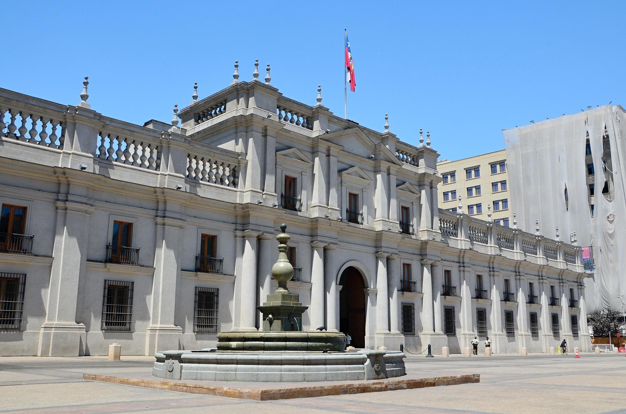 Prezidentský palác nazvaný La Moneda