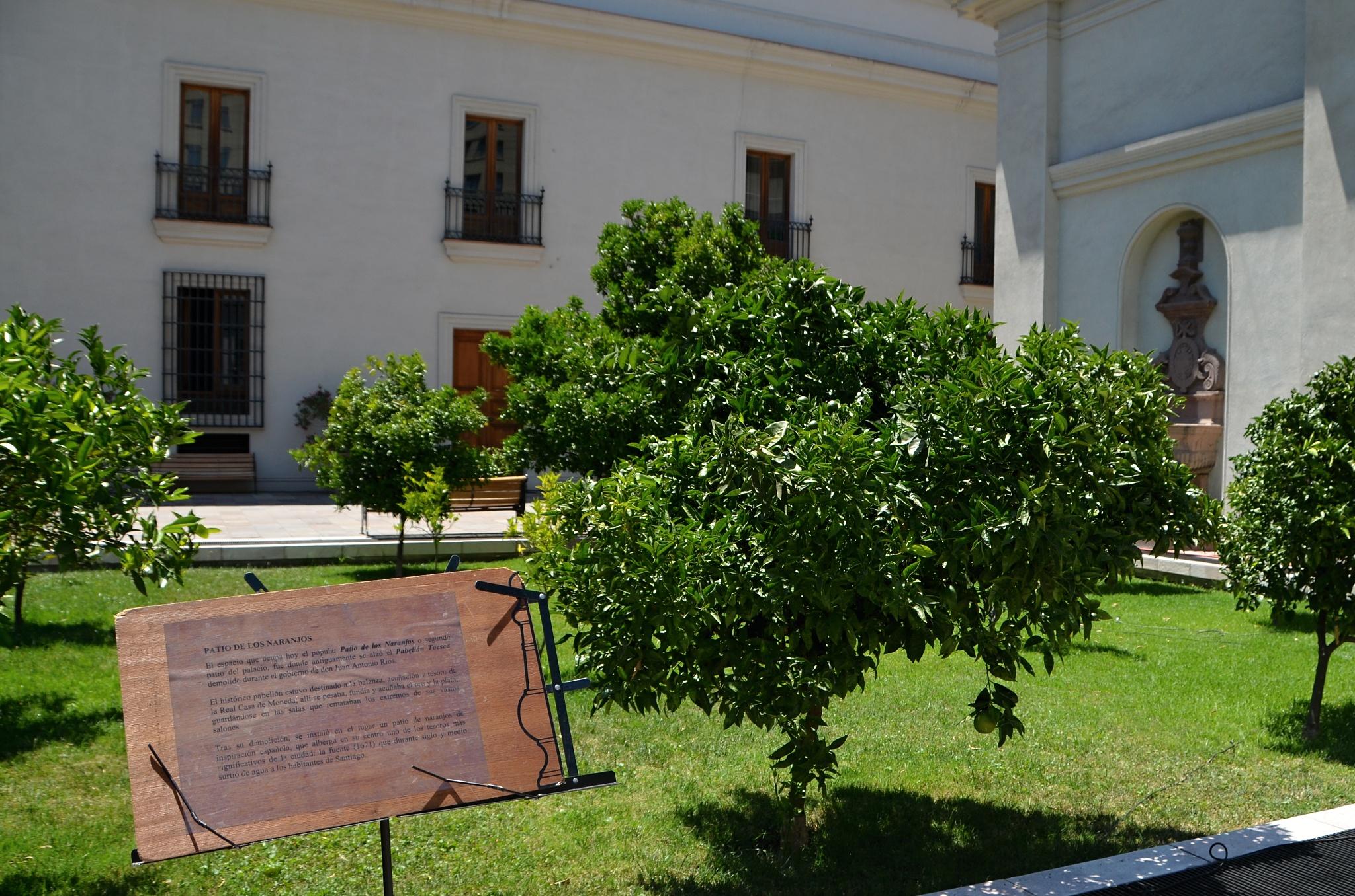 Vnitřní zahrada prezidentského paláce