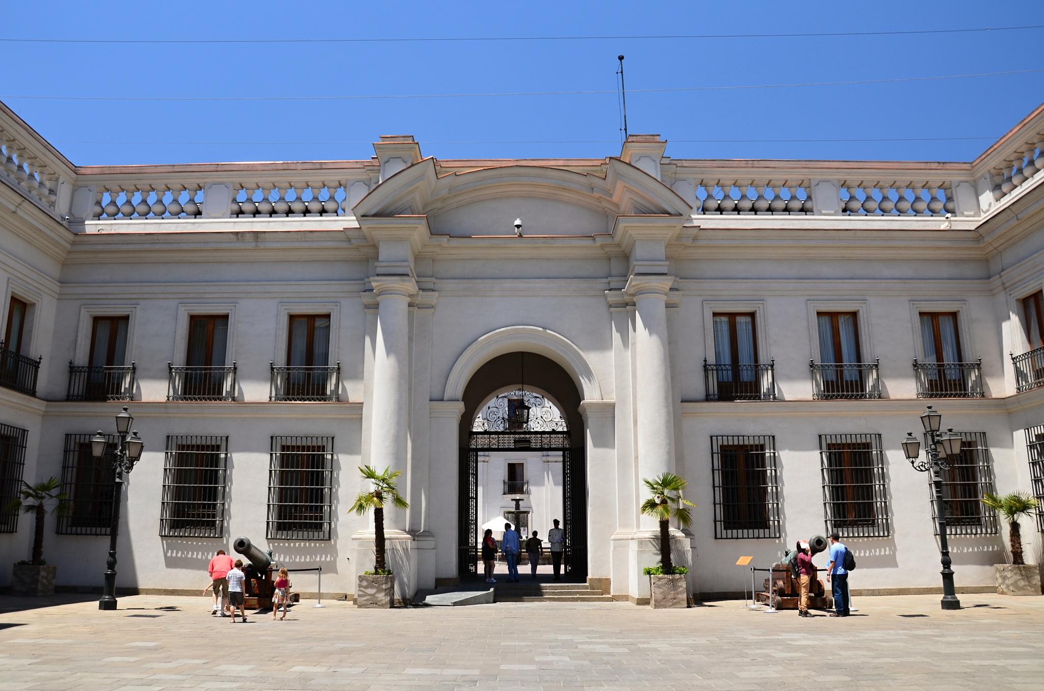 Vstupní brána do prezidentského paláce