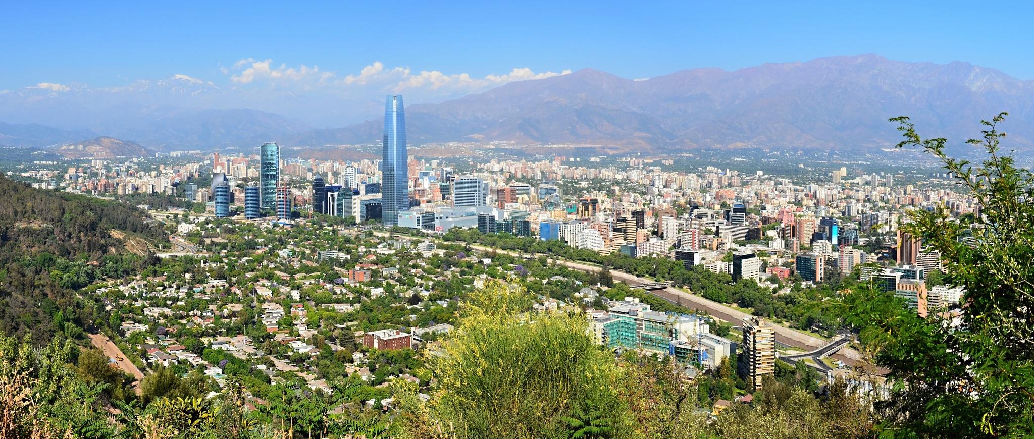 A ještě jedno panorama Santiaga