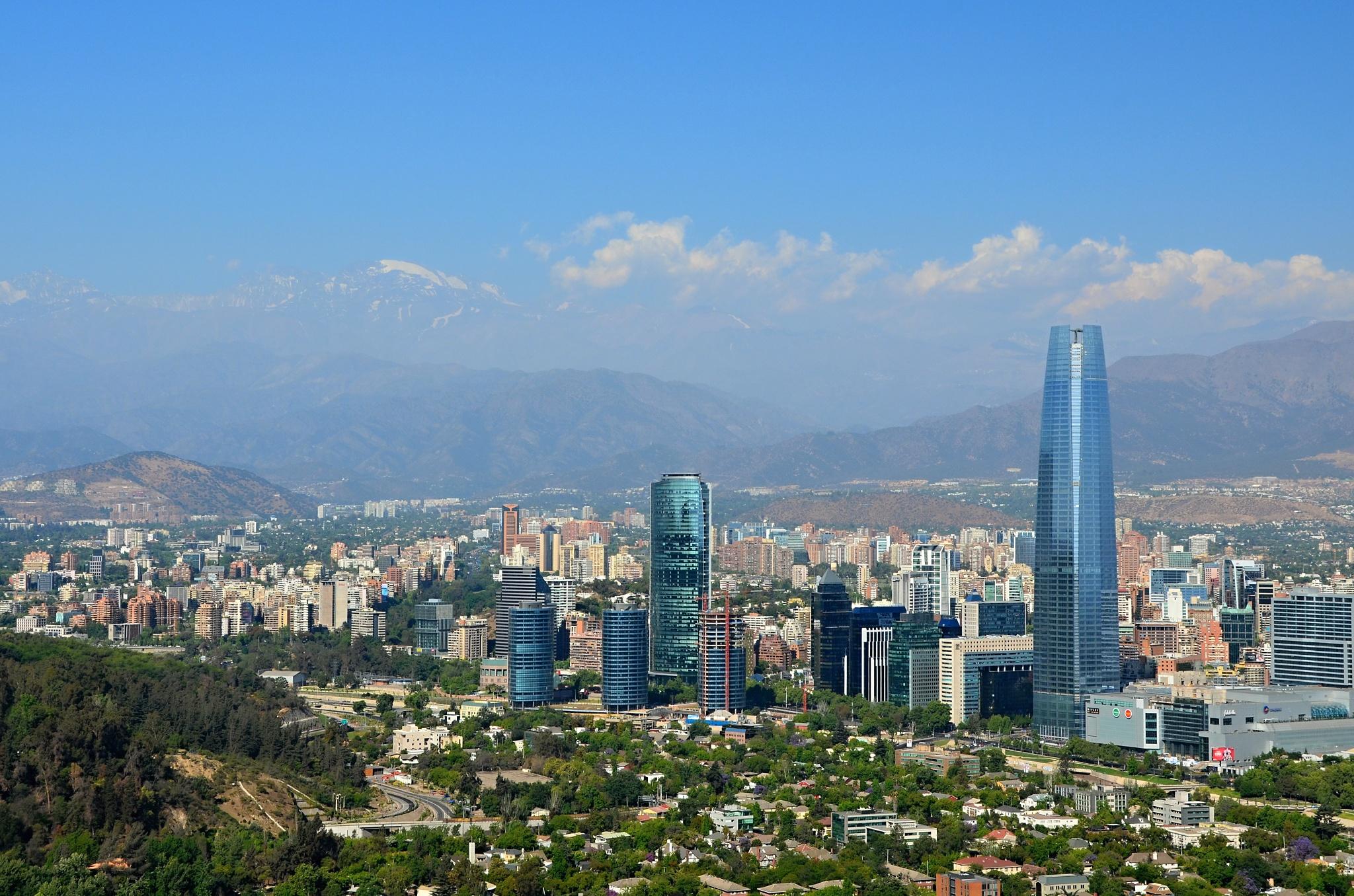 Pohled na jedno z několika administrativních center města
