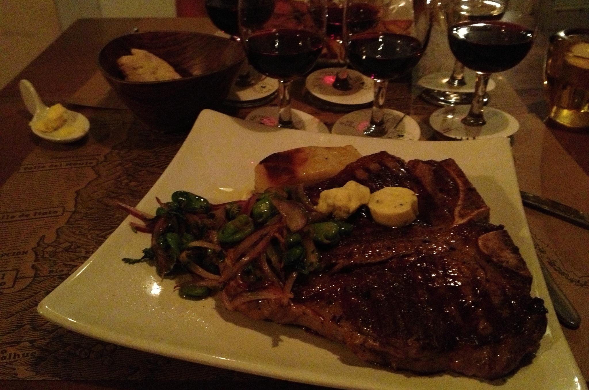 Francouzská restaurace, kde jsme večeřeli