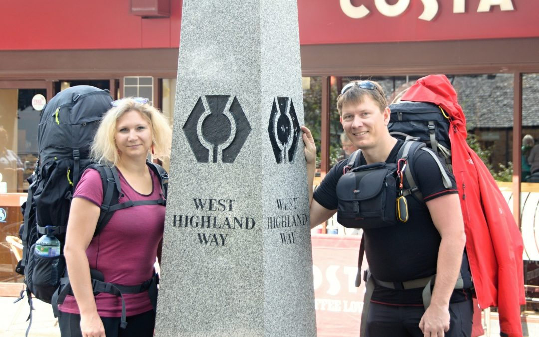 Vyrážíme na trek West Highland Way (Milngavie – Drymen, WHW den 1.)