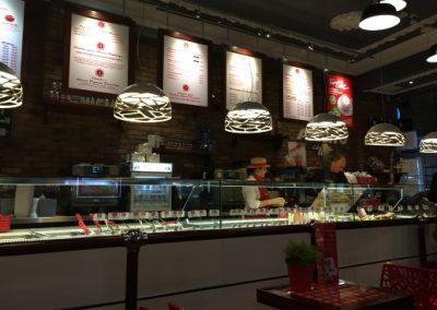 Italský fast food v Glasgow
